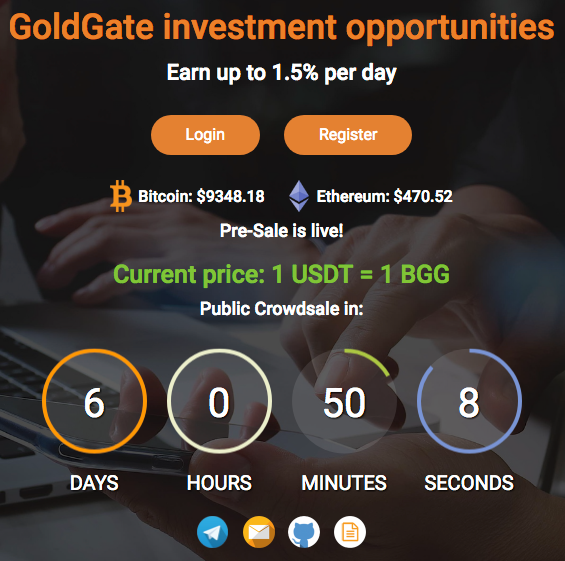 goldgate presale crowdsale investment