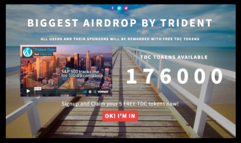Trident Crypto Fund - Airdropping 176,000 TDC Tokens