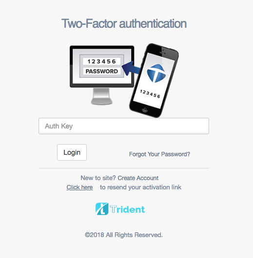 how to use 2fa with trident