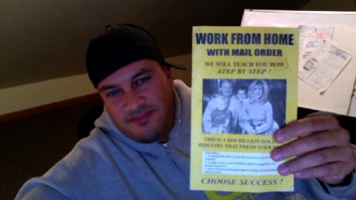josh paiva holding work from home booklet