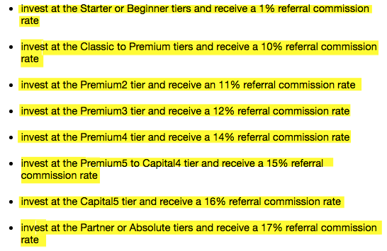 referral commissions